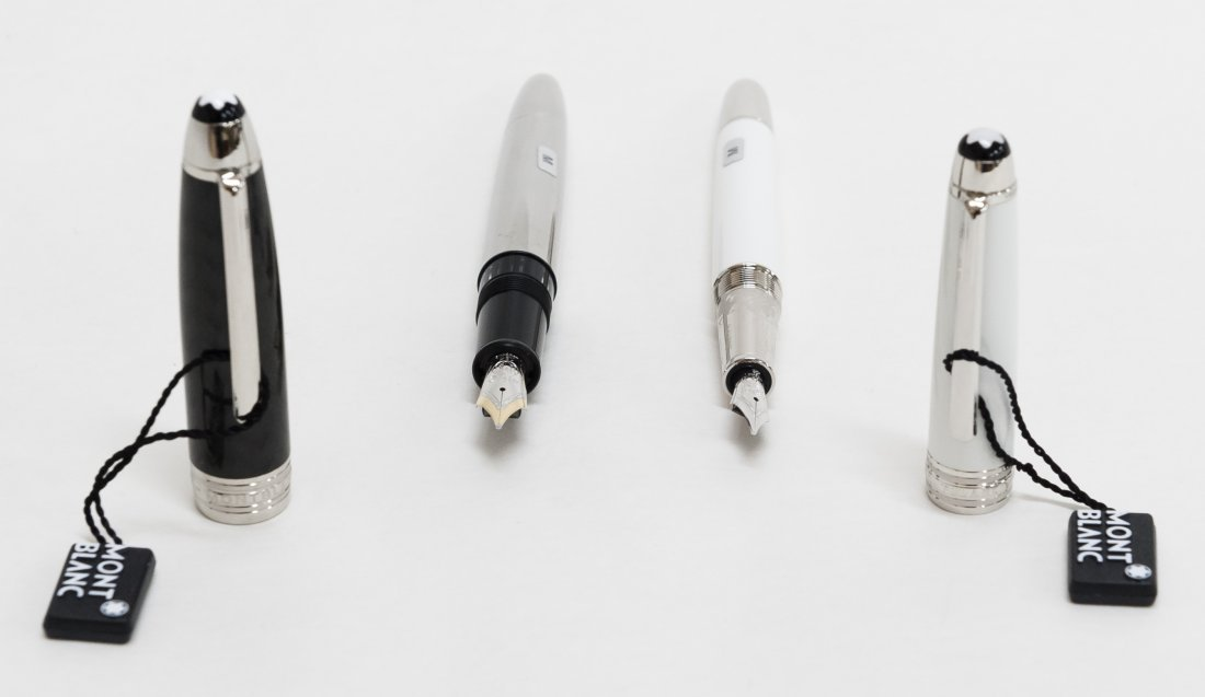 (2) Montblanc Meisterstruck Fountain Pens incl. Tribute