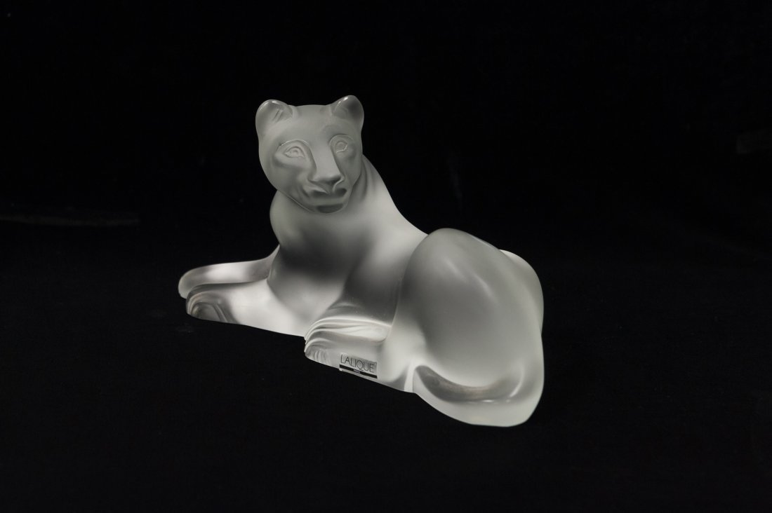 Lalique Crystal Simba Lioness.