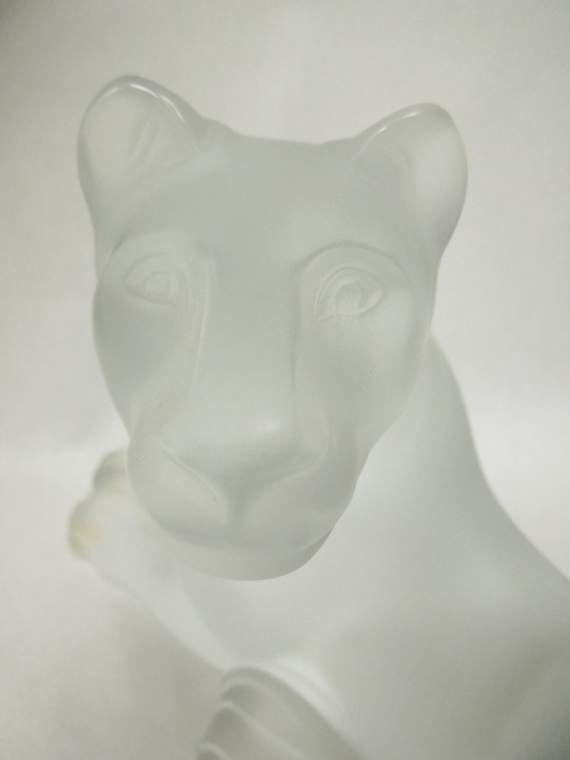 Lalique Crystal Simba Lioness. - 7