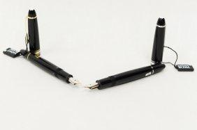 (2) Montblanc Legrand Fountain Pens.