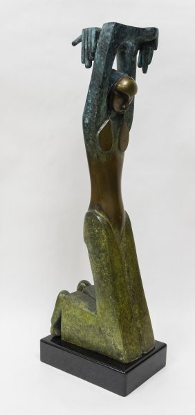 Donald Riggs Bronze Sculpture, Tranquility.