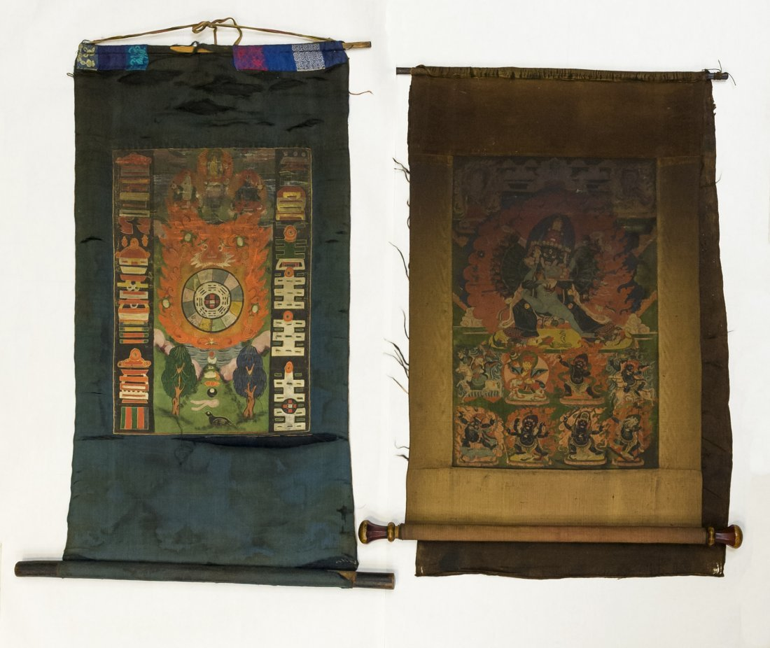 (2) Tibetan Thangkas.