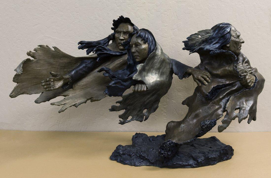 Mark Hopkins Bronze Sculpture, Broken Treaty.