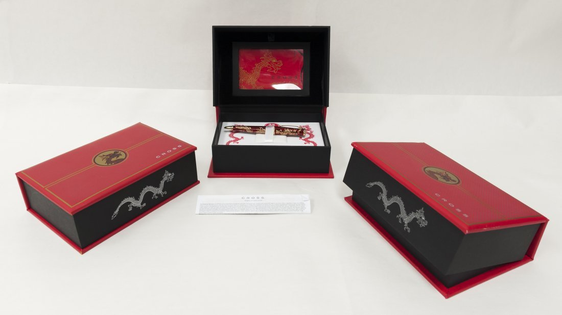 "(3) Cross ""2012 Year of the Dragon"" Pens. (Red). - 2"