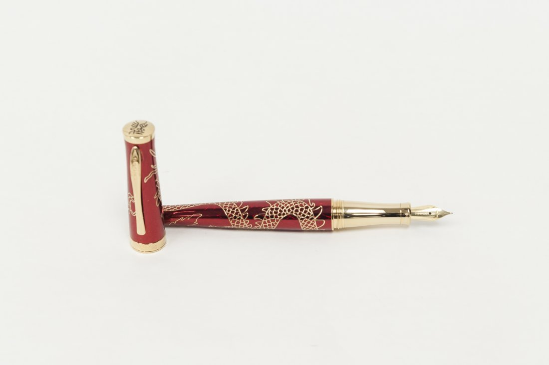 "(3) Cross ""2012 Year of the Dragon"" Pens. (Red). - 5"