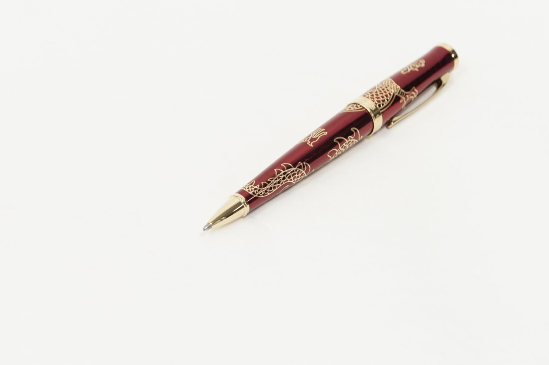 "(3) Cross ""2012 Year of the Dragon"" Pens. (Red). - 7"