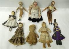 (8) American Folk Art Dolls.