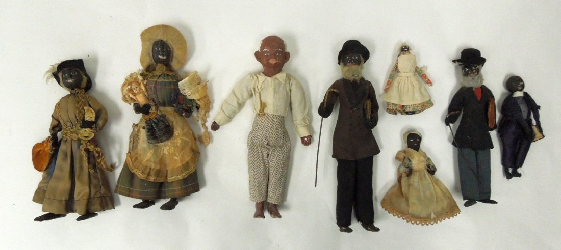 (8) Black Americana Folk Art Dolls.