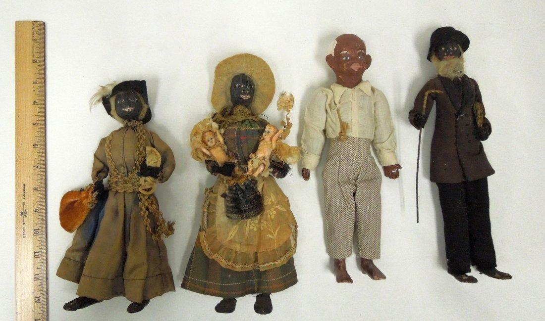 (8) Black Americana Folk Art Dolls. - 2