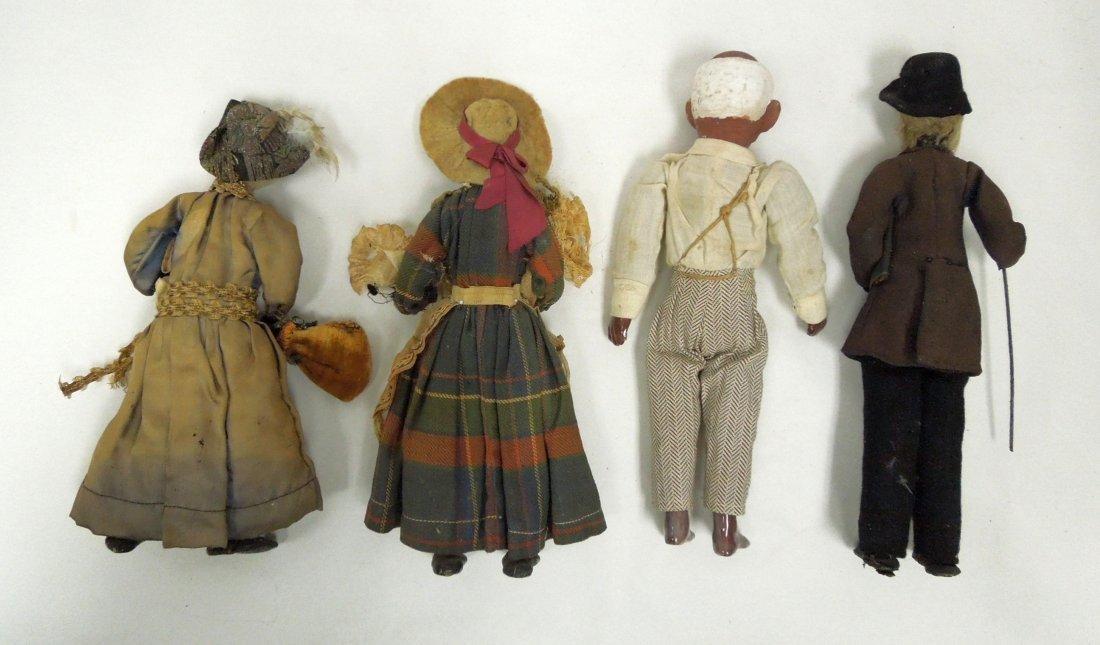 (8) Black Americana Folk Art Dolls. - 3