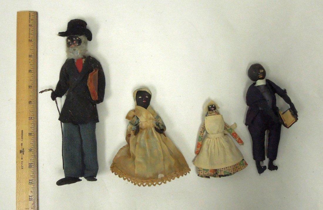(8) Black Americana Folk Art Dolls. - 5