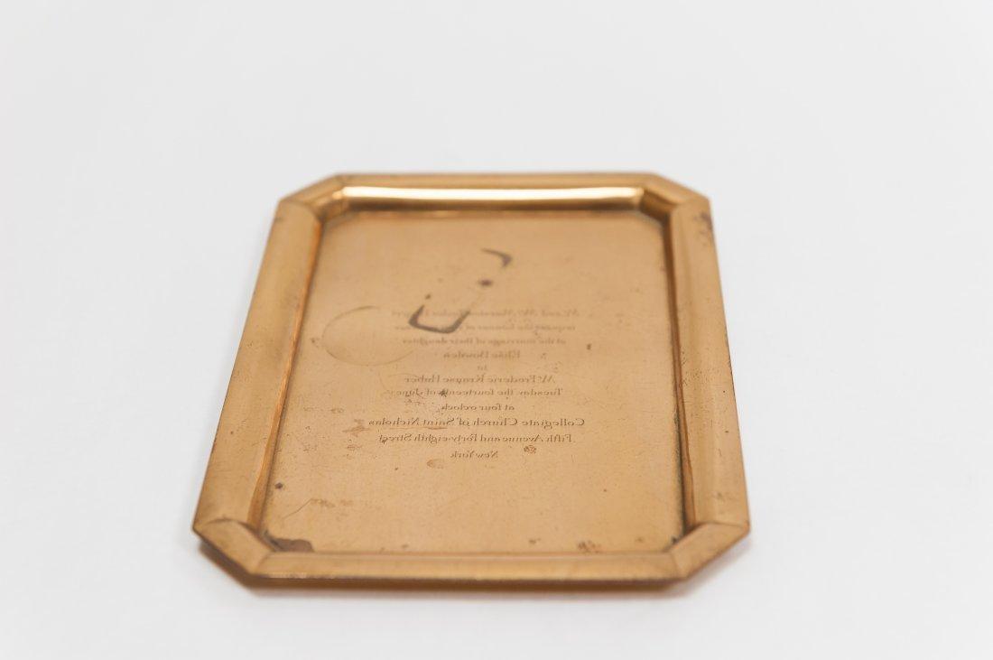 Tiffany & Co. Copper Wedding Invitation plate.