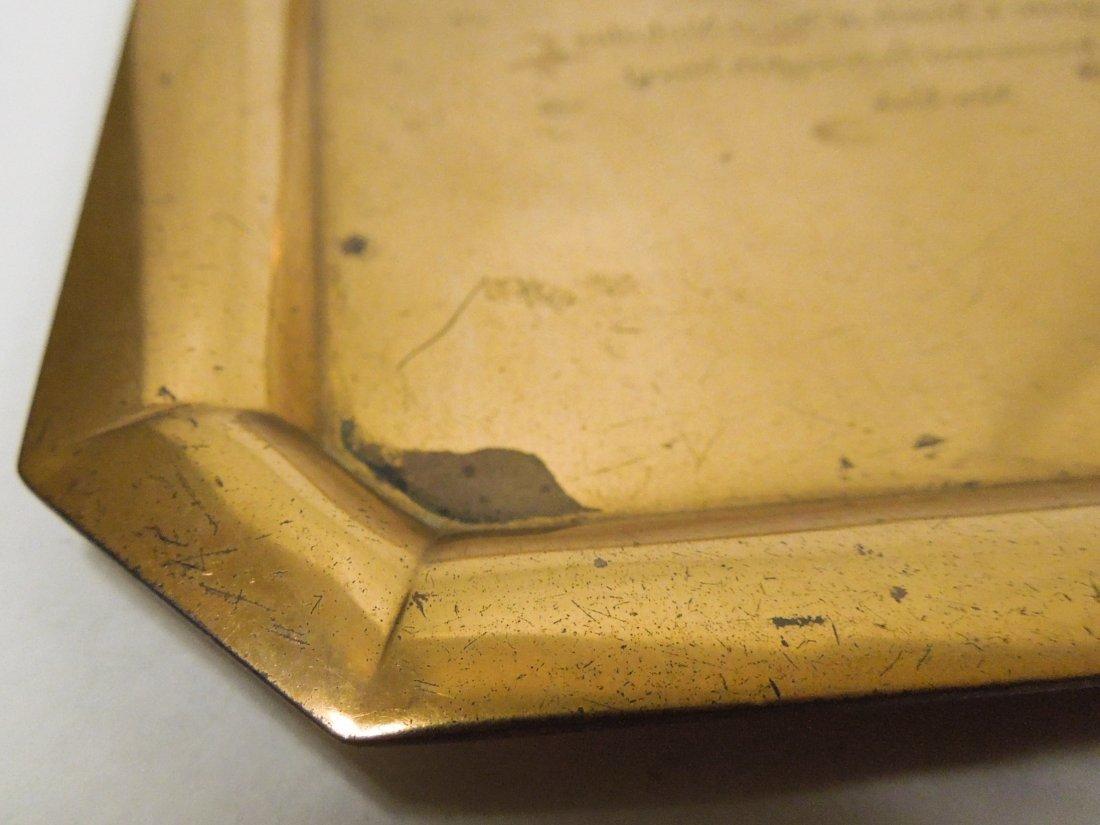 Tiffany & Co. Copper Wedding Invitation plate. - 6