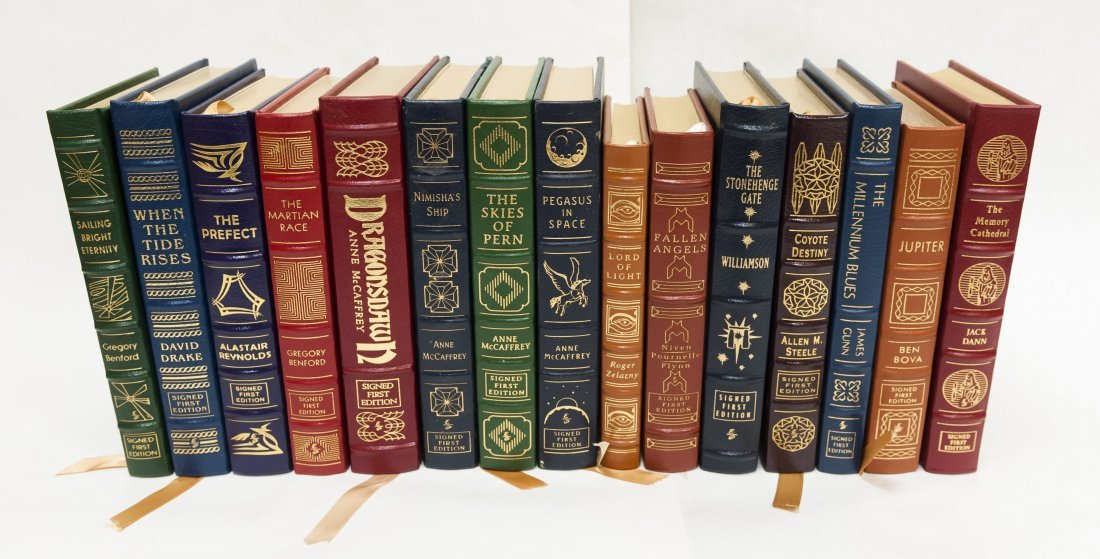 (14) Easton Press Signed First Edition Sci-Fi Novels.