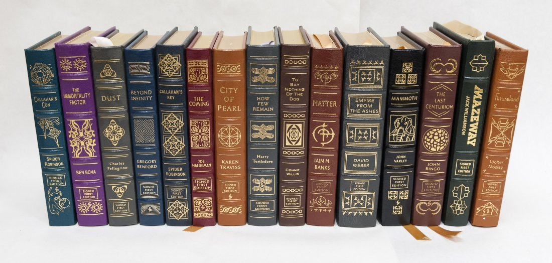 (15) Easton Press Signed First Edition Sci-Fi Books.