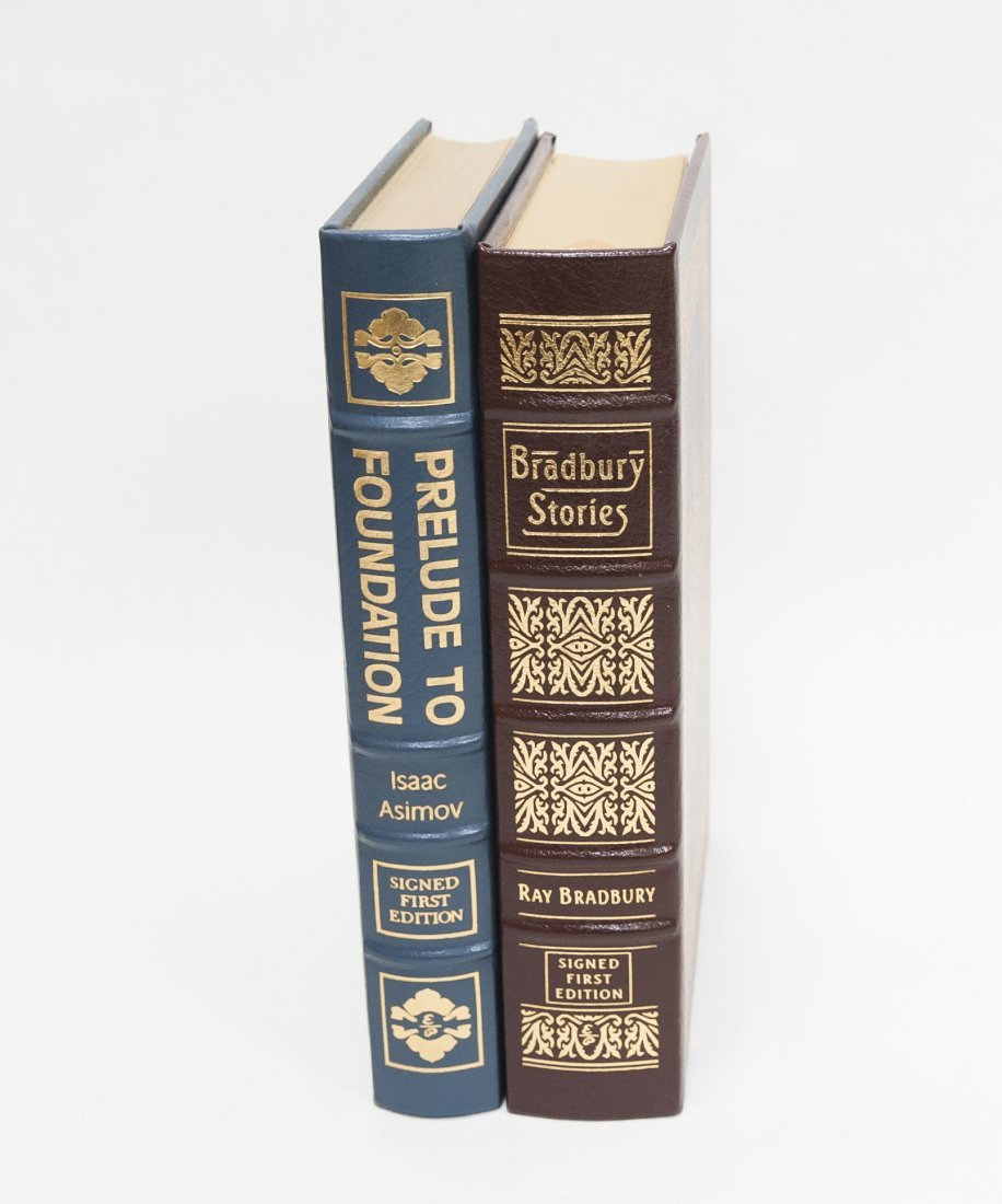 (2) Easton Press Signed Leather Bound Novels.