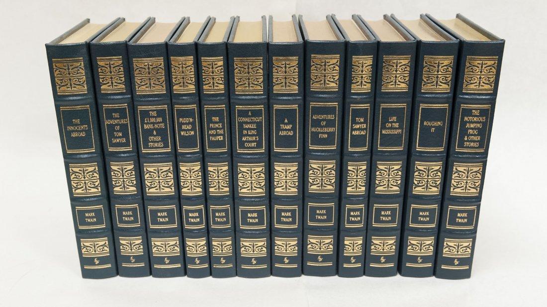 (12) Easton Press Mark Twain Novels.