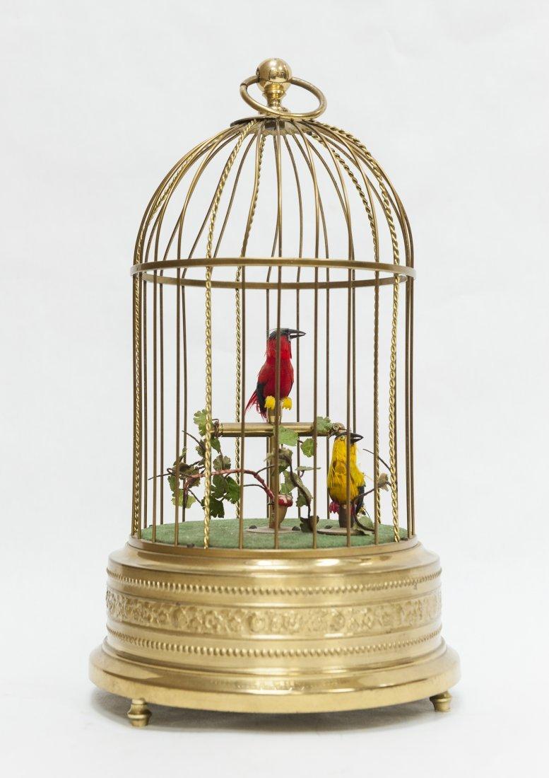 German Bird Cage Music Box.