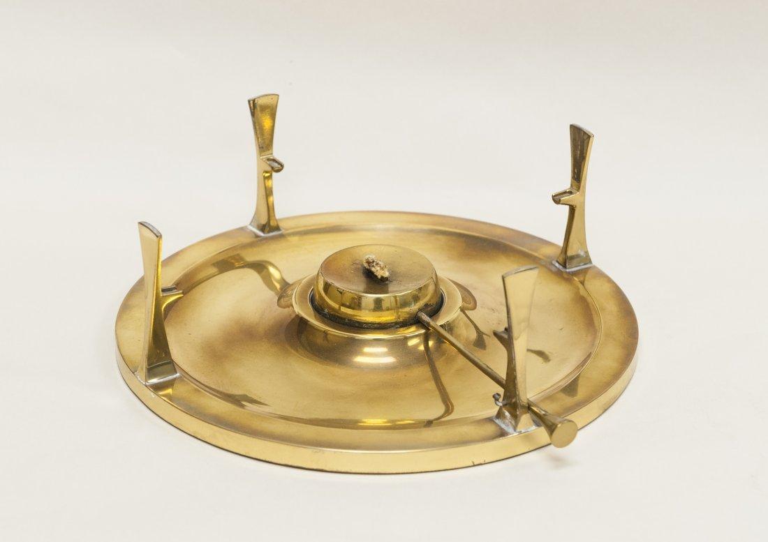 Dansk copper and brass chafing dish / fondue pot. - 3