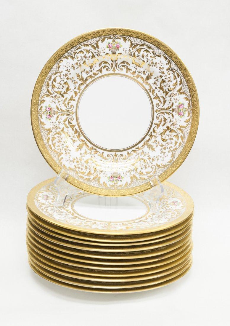(12) Spode Porcelain Stern Brothers Dinner Plates.