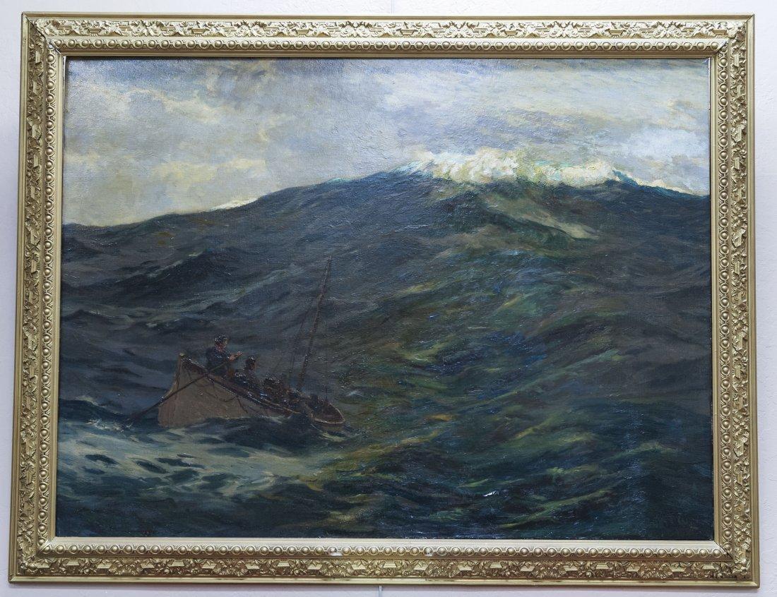 "Norman Wilkinson, Oil on Canvas, ""The Castaways""."