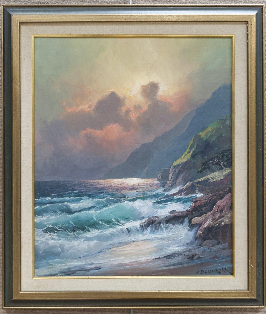 Alex Dzigurski Oil on Canvas.