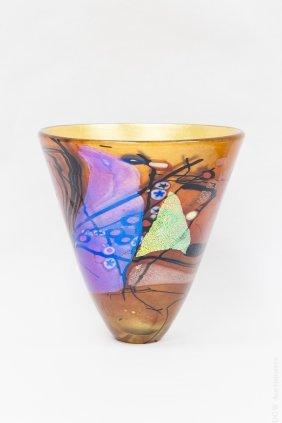 Robert Held Iridescent Glass Vase.