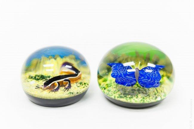 (2) Baccarat Art Glass Paperweights.