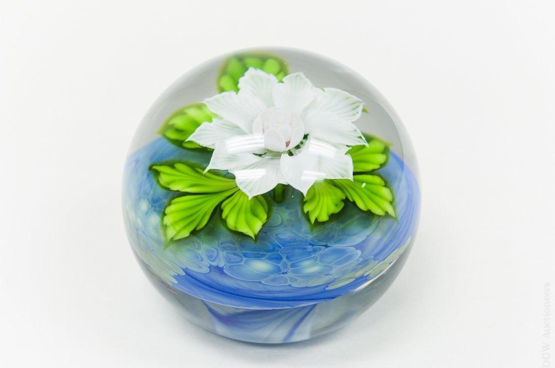 Mayauel Ward Art Glass Paperweight.
