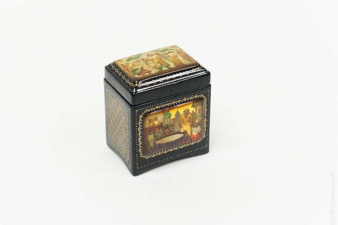 Russian Fedoskino Lacquer Box.
