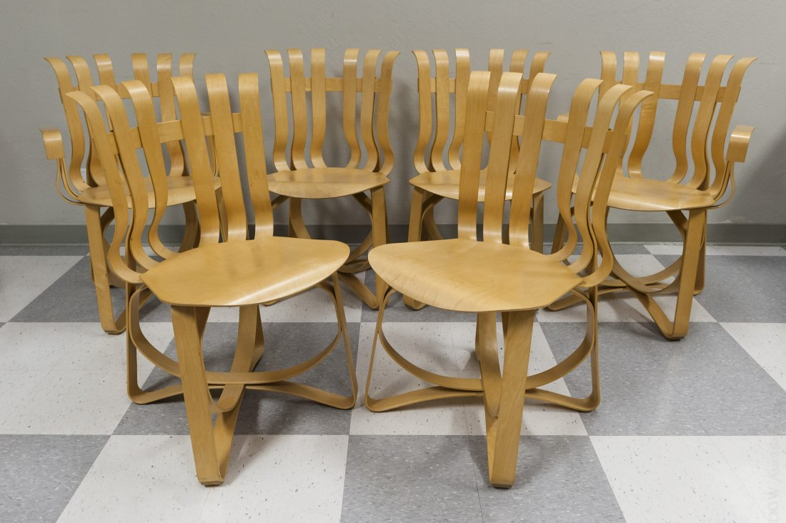 (6) Knoll Studios Frank Gehry Hat Trick Chairs.