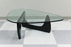Isamu Noguchi Glass Top Coffee Table.