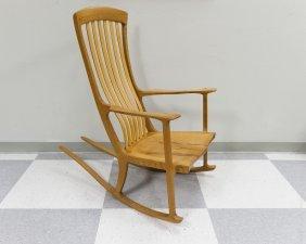 Robert Erickson South Yuba Wooden Rocking Chair.