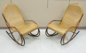 (2) Paul Tuttle Nonna Rocking Chairs.