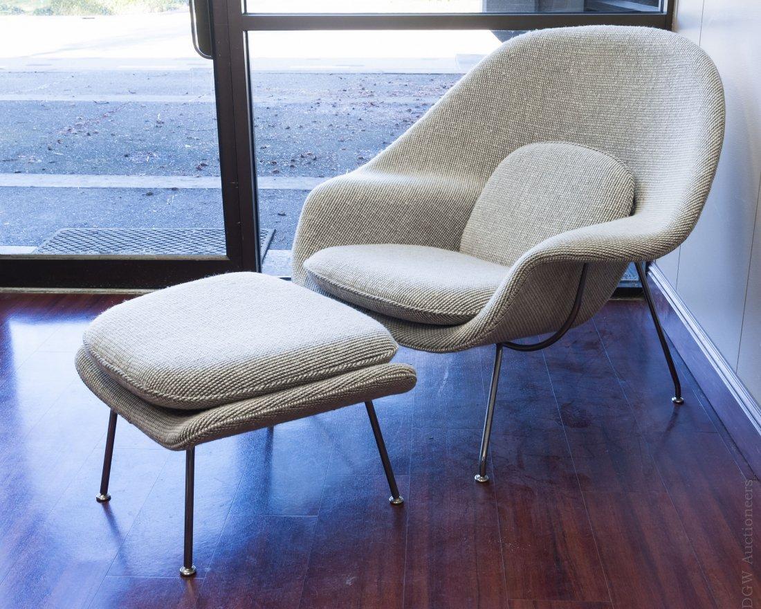 Eero Saarinen Womb Chair and Ottoman, Knoll Studios.