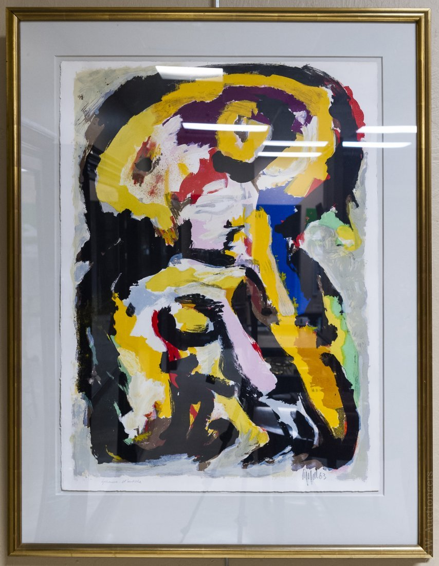 Karel Appel Color Lithograph.