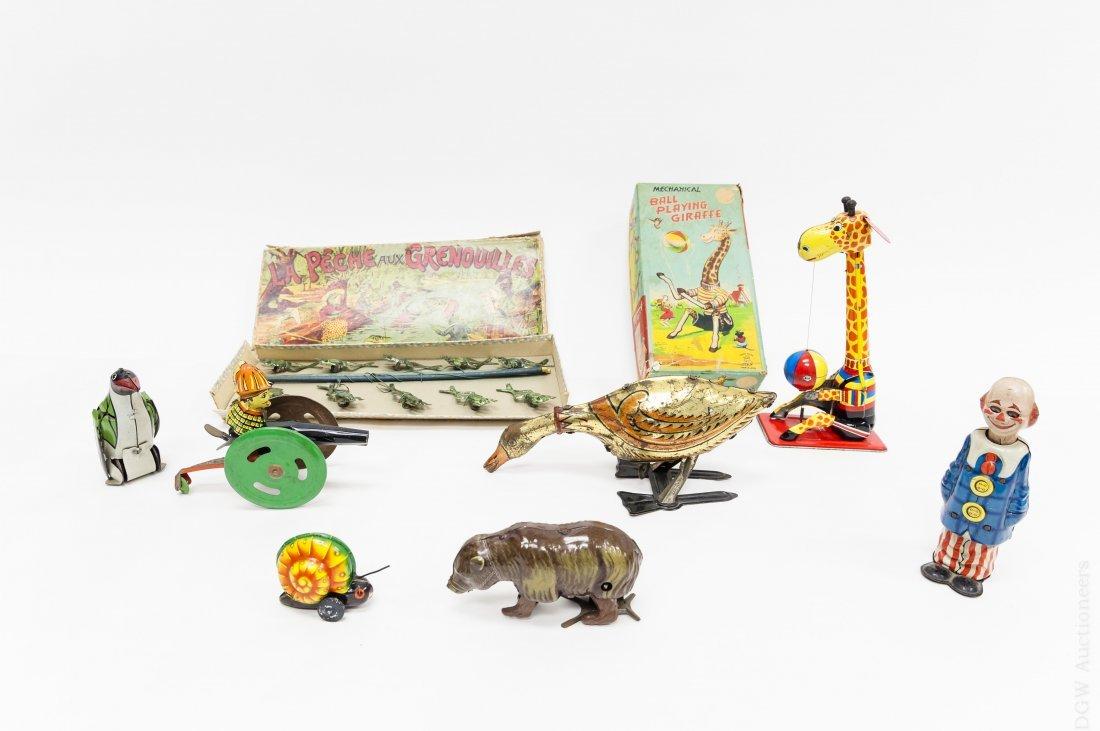 Vintage Mechanical Wind Up Toys.