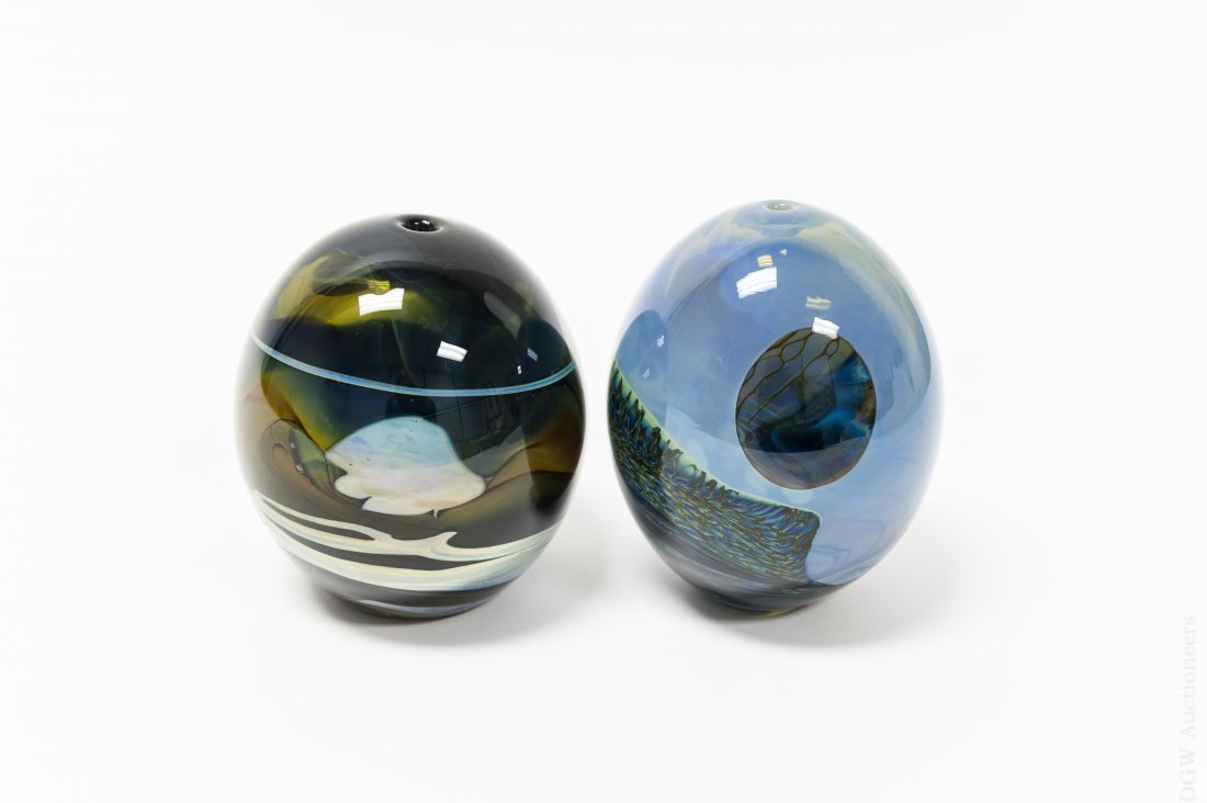 (2)  John Lewis Moon Vases.
