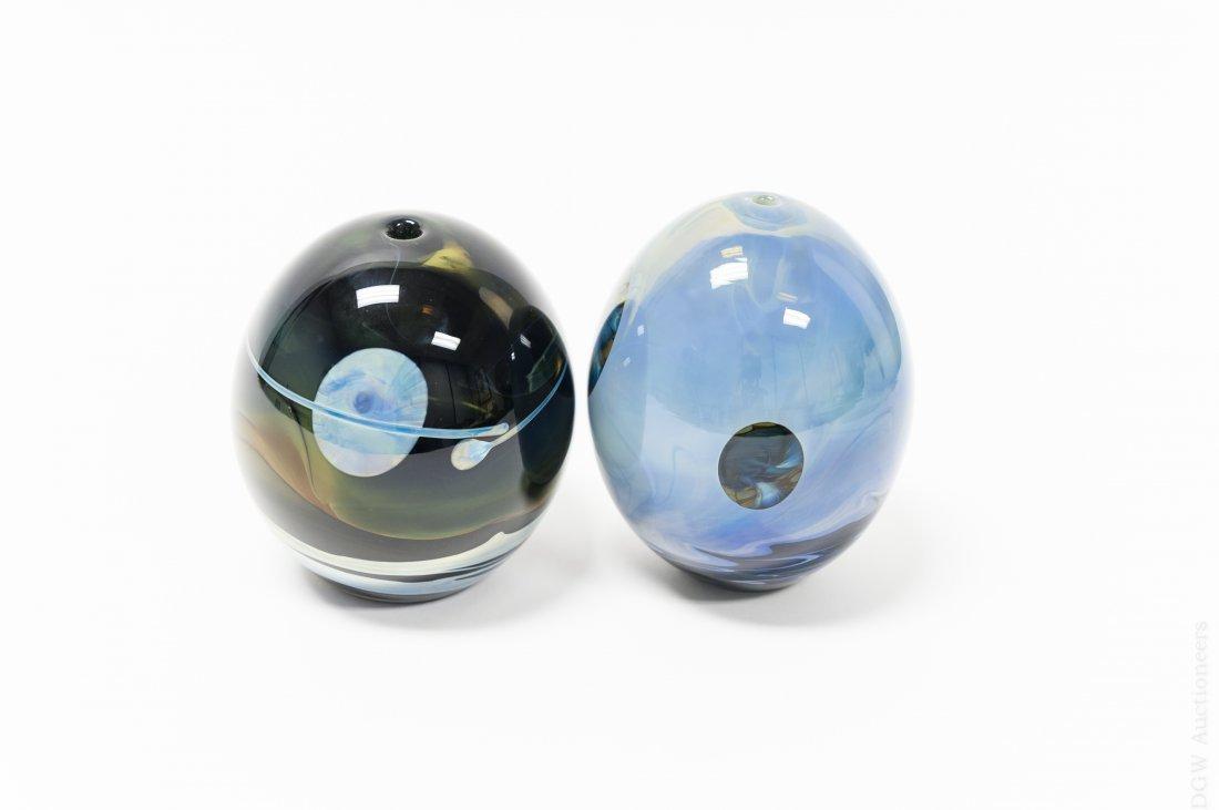 (2)  John Lewis Moon Vases. - 2