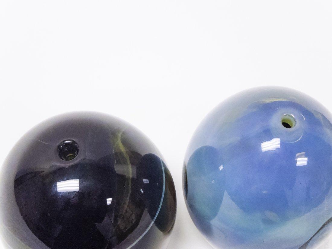 (2)  John Lewis Moon Vases. - 3