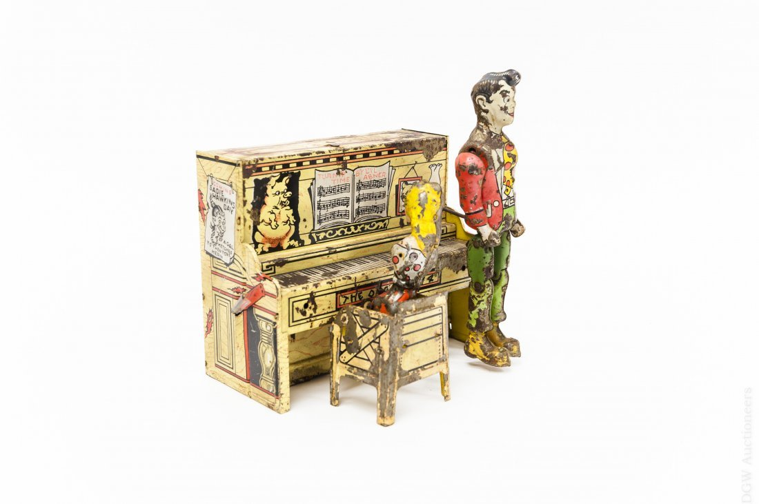 Vintage Wind Up Mechanical Piano.