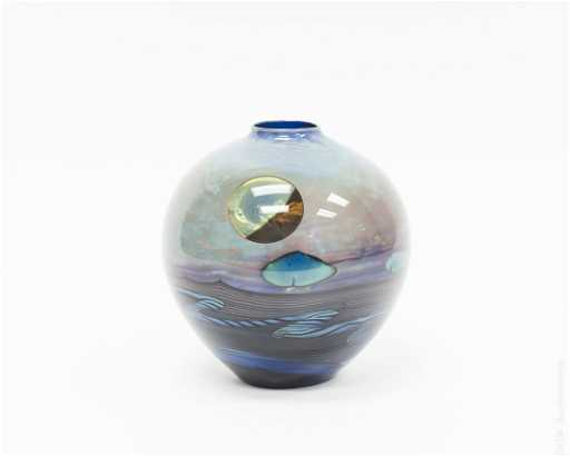 John Lewis Art Glass Moon Vase