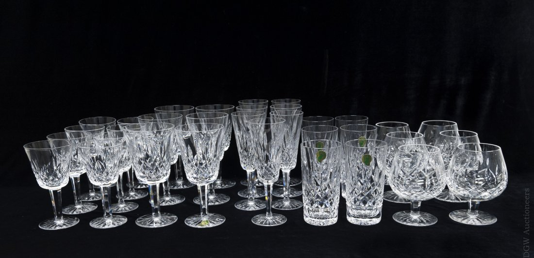 Waterford Crystal Stemware, 34 pieces.