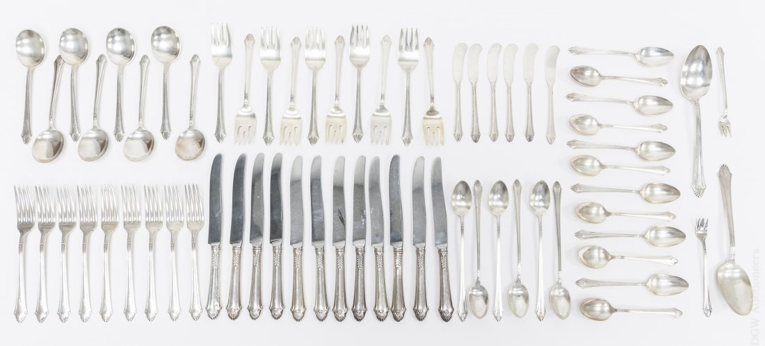 Gorham Sterling Silver Flatware Service, 67 pieces.