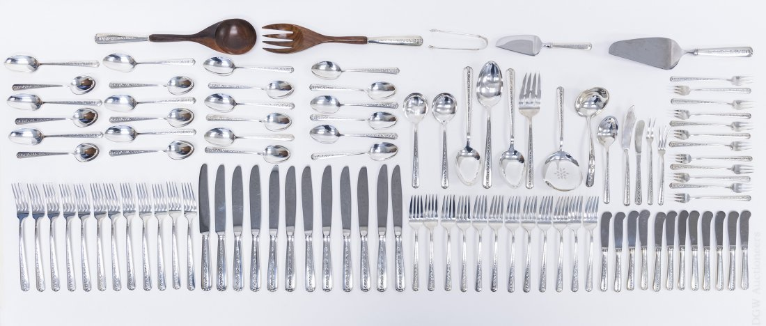 Towle Sterling Silver Flatware Service, 101 pieces.