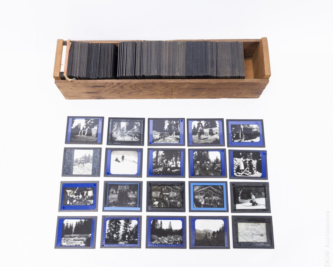 Collection of Vintage Magic Lantern Slides.