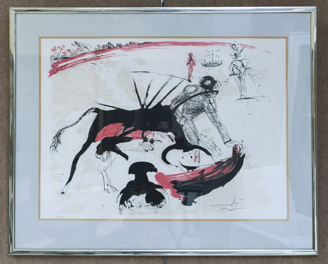 Salvador Dali Bull Fight #3 Lithograph.