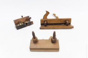 (3) Vintage Wooden Carpenter's Planes.