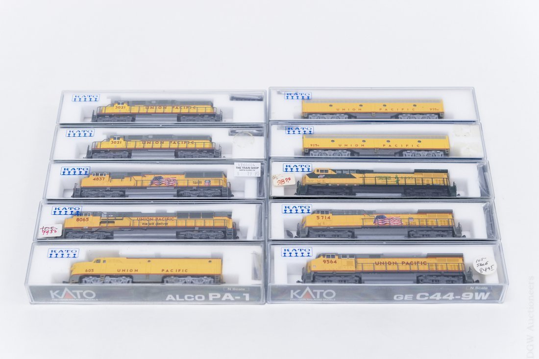 (10) Kato Union Pacific 'N' Scale Engines and