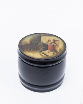 Vishnikov 19th Century Russian Lacquer Tea Caddy.